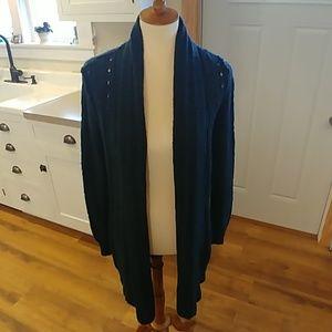 FENN WRIGHT MANSON Pine Green Navy Long Cardigan